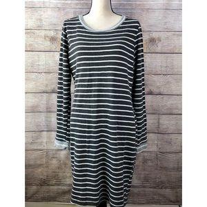 StitchFix Market & Spruce Charcoal Stripe Dress